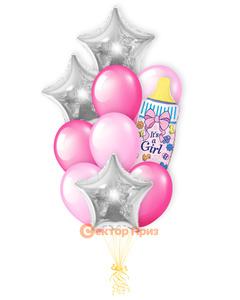 «Это девочка!» — шары с гелием. 14 шт.