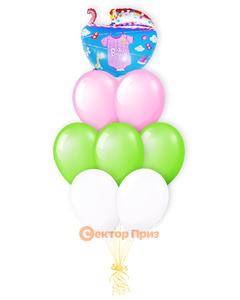 «Малышка» — шары с гелием. 12 шт.