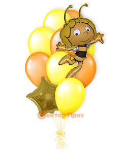 «Пчелка Майя» — шары с гелием. 15 шт.