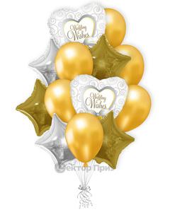 «Свадебная вечеринка» — шары с гелием 16 шт.