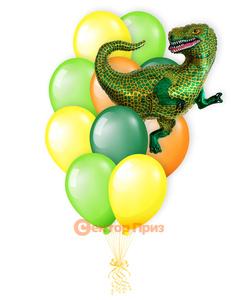 «Тираннозавр»<br/>шары с гелием. 15 шт.