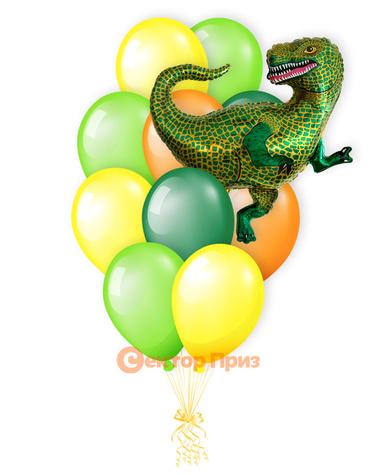 «Тираннозавр» — шары с гелием. 15 шт.