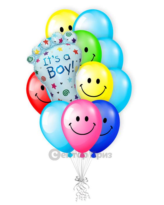 «У нас сын!» — шары с гелием. 17 шт.