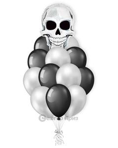 «Череп» — шары с гелием. 17 шт.