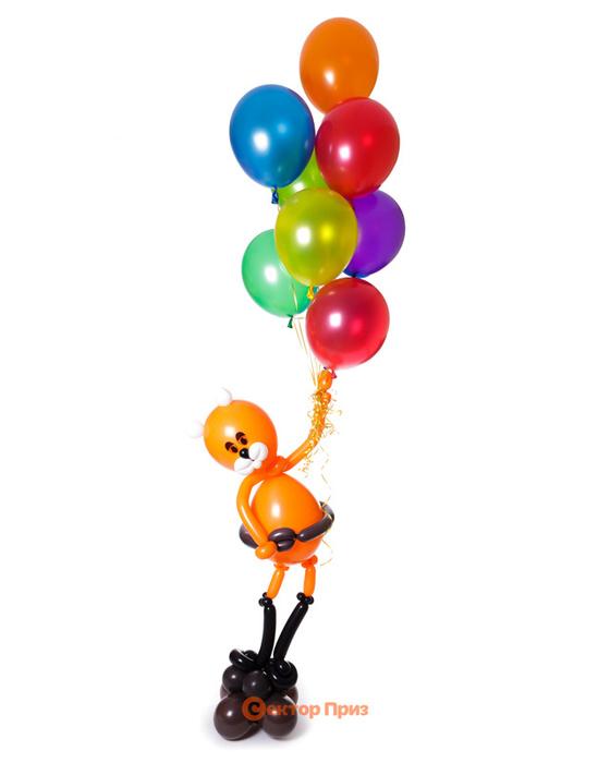 Фигура из шаров «Кот в сапогах»