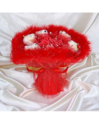 Букет из игрушек «Аквамарин»