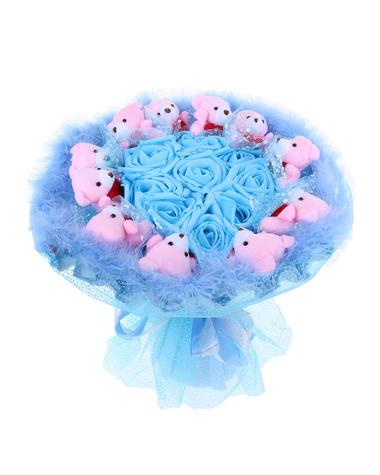 Букет из игрушек «Голубая лагуна»