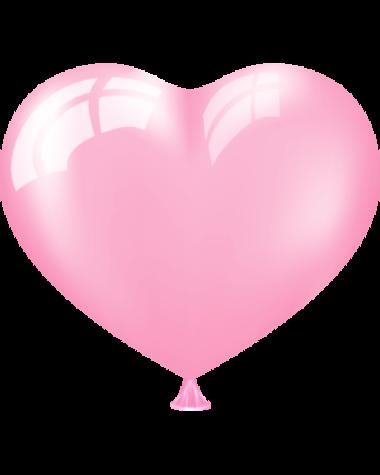 Сердце розовое
