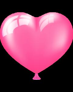 Сердце ярко-розовое