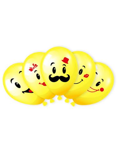 Смайлы желтые ассорти