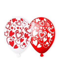 Сердца белые и красные