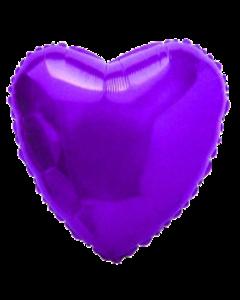 Фиолетовое сердце фольгированное