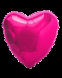 Ярко-розовое сердце фольгированное