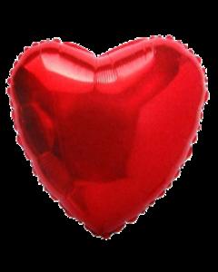 Красное сердце фольгированное 35 см