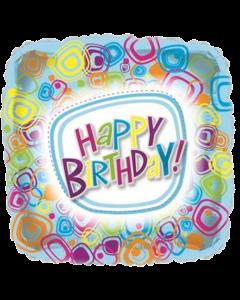 С Днем рождения! фольгированный