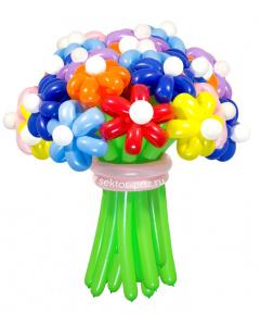 Букеты из воздушных шаров, «Мега» — 23 цветка из шаров