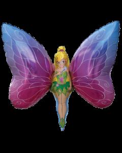 Леди бабочка фольгированная