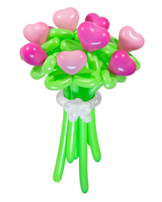 «Влюбленное сердце» — 7 цветов из шаров