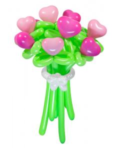 Букеты из воздушных шаров, «Влюбленное сердце» — 9 цветов из шаров