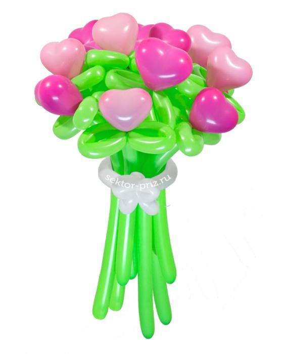 «Влюбленное сердце» — 11 цветов из шаров