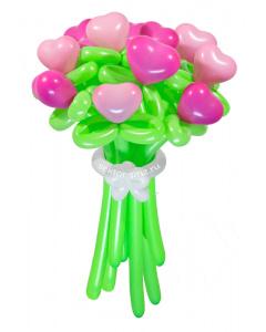 Букеты из воздушных шаров, «Влюбленное сердце» — 11 цветов из шаров