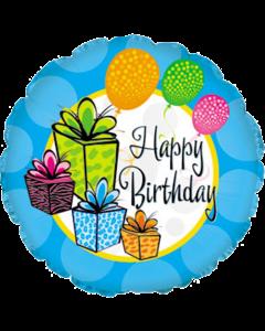 С Днем рождения (шары и подарки)