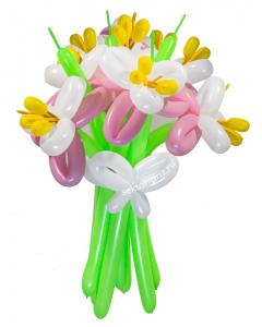 Букеты из воздушных шаров, «Обыкновенное чудо» — 9 цветов из шаров