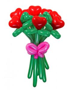 Букеты из воздушных шаров, «От чистого сердца» — 9 цветов из шаров