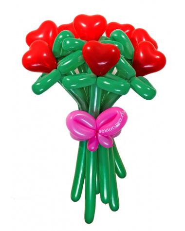 «От чистого сердца» — 7 цветов из шаров