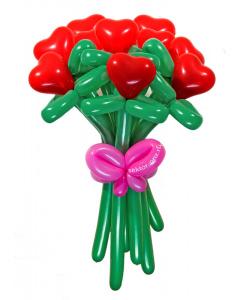 Букеты из воздушных шаров, «От чистого сердца» — 11 цветов из шаров