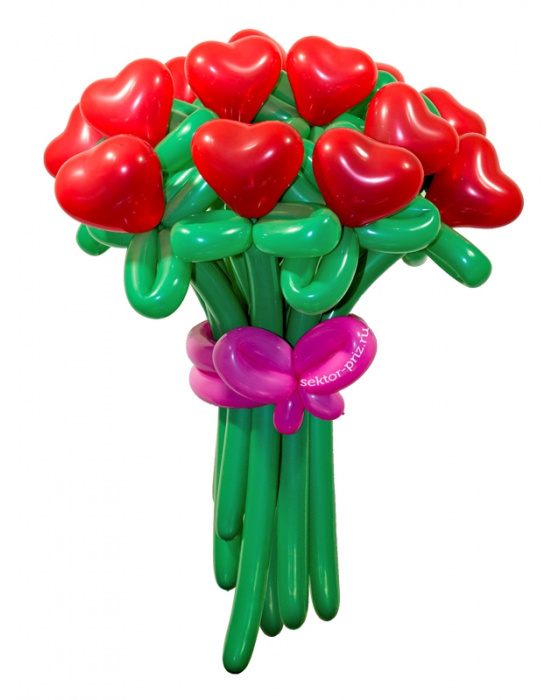 «От чистого сердца» — 15 цветов из шаров