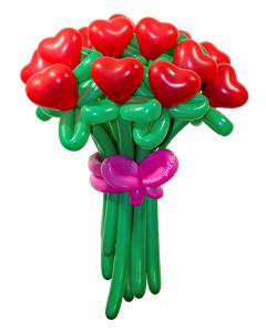 Букеты из воздушных шаров, «От чистого сердца» — 15 цветов из шаров