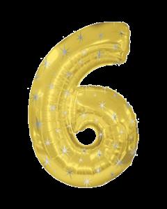Цифра шесть золотая