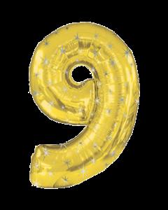 Цифра девять золотая