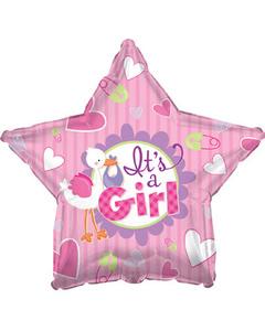 Звезда «Аист» розовая