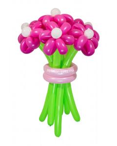 Букеты из воздушных шаров, «Розовая мечта» — 7 цветов из шаров