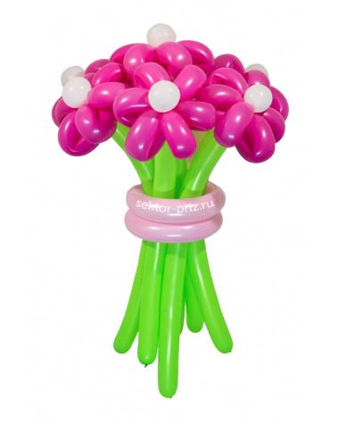 «Розовая мечта» — 7 цветов из шаров