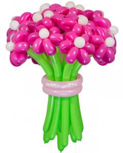 Букеты из воздушных шаров, «Розовая мечта» — 23 цветка из шаров