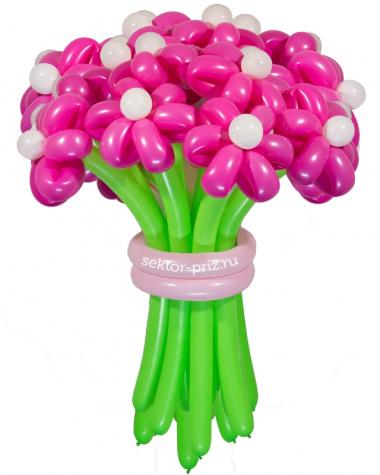 «Розовая мечта» — 23 цветка из шаров
