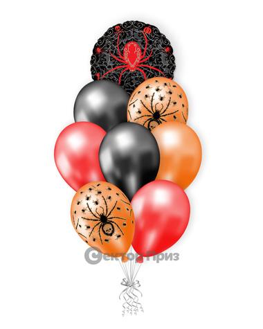 «Паучья радость» — шары с гелием. 12 шт.