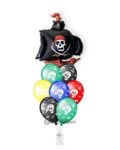 «Пиратский колабль» — шары с гелием. 14 шт.