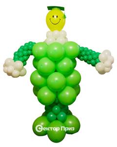 Фигура из шаров «Крокодил»