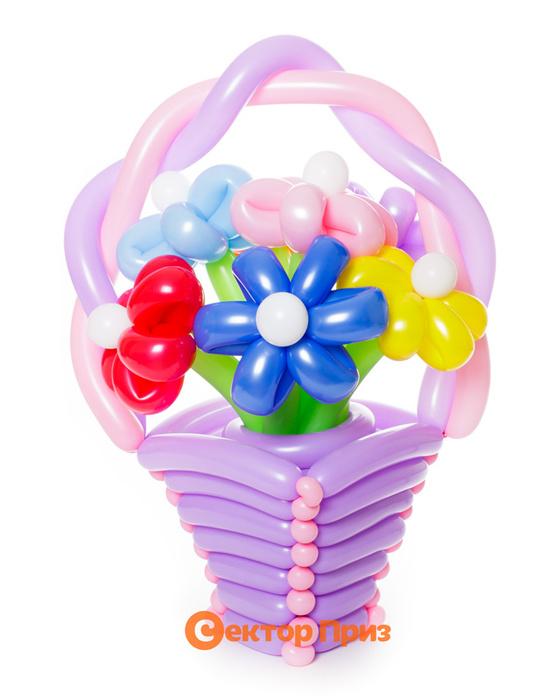 Букеты из воздушных шаров, «Мега» — 7 цветов из шаров