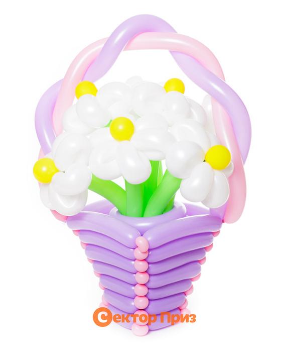 Букеты из воздушных шаров, «Мед в снегу» — 7 цветов из шаров