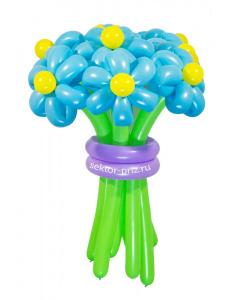 Букеты из воздушных шаров, «Ясный день» — 9 цветов из шаров