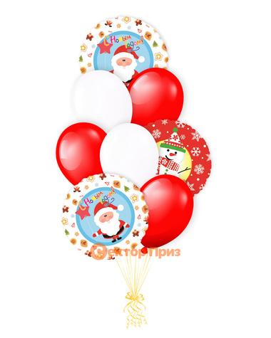 «Новогодний букет» — шары с гелием. 14 шт.