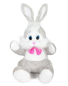 Мягкая игрушка «Зайчик в шарфике лиловый»