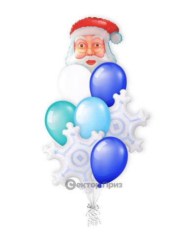 «Дедушка Мороз» — шары с гелием. 15 шт.