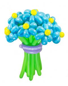 Букеты из воздушных шаров, «Ясный день» — 13 цветов из шаров