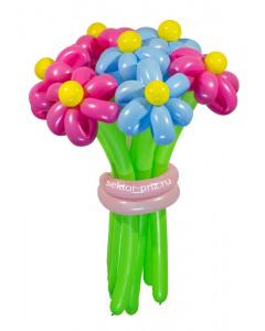 Букеты из воздушных шаров, «Ромашковый рай» — 7 цветов из шаров